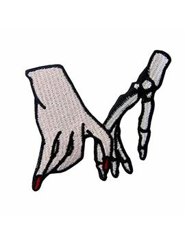 Hand With Skeleton Cheating Love Applique Embroidered Badge Iron On Sew On Patch by Amazon