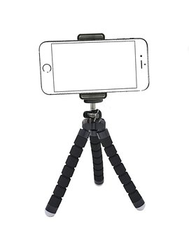 Ailun Phone Tripod,Tripod Mount/Stand,Phone Holder,Compatible With I Phone X/Xs/Xr/Xs Max/8/7/7 Plus,6s,6s Plus,Se/5c,Compatible With Galaxy S9+/S8/S7/S7 Edge,S6/S6 Edge,Camera And More[Black] by Amazon