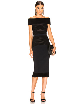 Hanbury Ripple Giselle Knit Dress by Roland Mouret