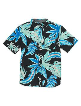 Boys Pit Stop Floral Buttondown Shirt by Vans