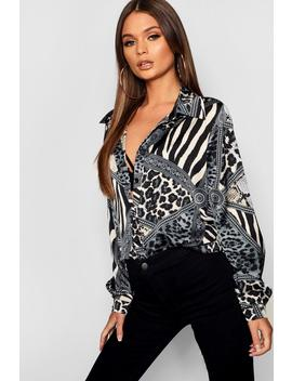 Animal Print Shirt by Boohoo
