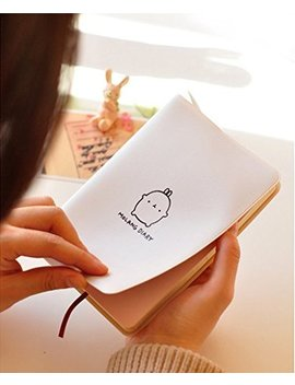 "Haiker White""Molang Rabbit"" Diary Any Year Planner Pocket Journal Notebook Agenda Scheduler by Haiker"