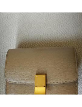 Classic Box Mini In Taupe Shoulder Bag by Tradesy