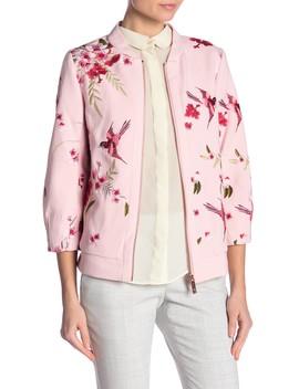 Bird & Blossom Spring Bomber Jacket by Ted Baker London