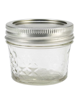 Ball Quilted Crystal Jelly Jar W/Lid & Band, 4 Ounces, 12 Count by Ball