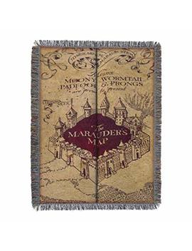"""Harry Potter,""""Marauder's Map"""" Woven Tapestry Throw Blanket, 48"""" X 60"""" by Amazon"""