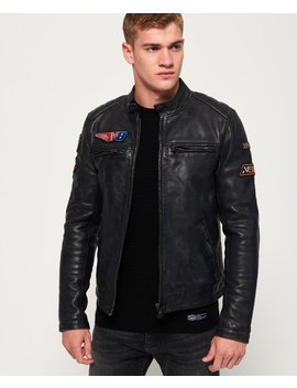 Endurance Road Trip Leather Jacket by Superdry