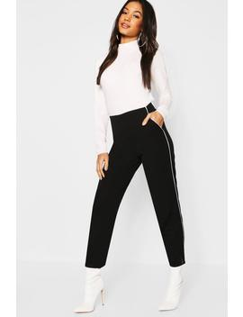 Piping Detail Tapered Trouser by Boohoo
