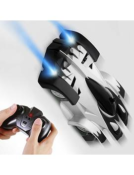 Sgile Remote Control Car Boy Toy, Rechargeable Car For Kids Boy Girl Birthday Present With Mini Control Dual Mode 360° Rotating Led Head Gravity Defying, Black by Sgile