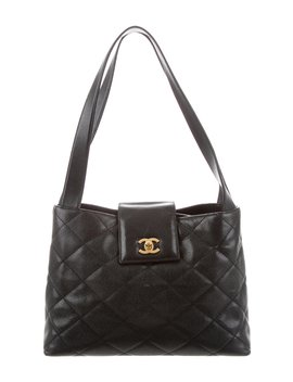 Quilted Caviar Tote by Chanel