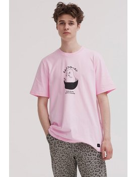 Lazy Oaf Pork Ramen T Shirt   Pink by Garmentory