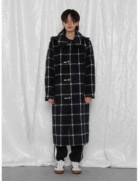 [Unisex]   R Hood Check Long Ct by Rocket X Lunch