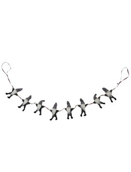 "Northlight 3.5' X 4.5"" Unlit Gray And White Buttoned Up Gnome Chain Christmas Garland by Northlight"