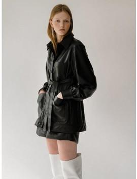 Faux Leather Safari Shirt Jp009 by Sec By Rigoon