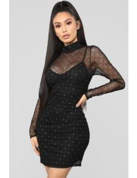So Meshed Up Mini Dress   Black by Fashion Nova