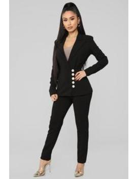 Working Woman Pant Set   Black by Fashion Nova