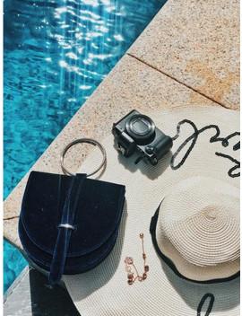 O Ring Royalbule Velvet Handbag by Iridescence New York