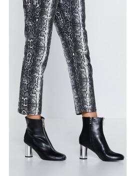 Reflect Back Faux Leather Bootie by Nasty Gal