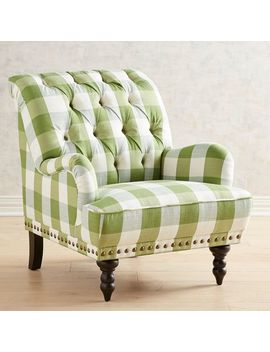 Green Plaid Chair by Chas Collection