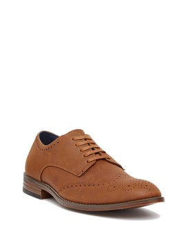 Evan Suede Wingtip Shoe by Joseph Abboud