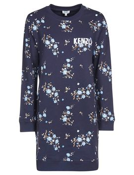 Kenzo Floral Print Sweater Dress by Kenzo