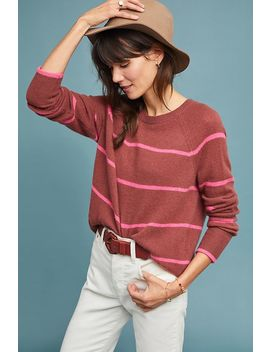 Emerson Striped Cashmere Sweater by White + Warren