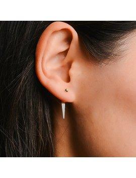 Triangle Ear Jacket   Gold Ear Jacket   Triangle Earrings   Front Back Earring   Ear Jackets   Dainty Earrings   Minimalist Earrings by Etsy