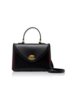 Small Valentina Top Handle Leather Bag by Mark Cross