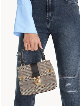 Tartan Front Clasp Mini Bag by Pomelo