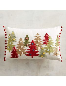 Merrily & Bright Pompom Trees Lumbar Pillow by Pier1 Imports