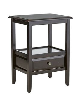 Rubbed Black End Table With Knobs by Anywhere Collection