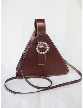 Mini Soft Triangle Bag Brown by Soft Seoul