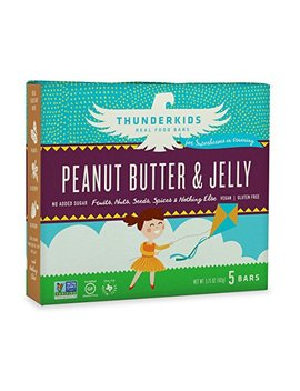Thunderkids Vegan Snacks   Real Food Energy Bars   Peanut Butter & Jelly   Box Of 5   No Added Sugar, Grain And Gluten Free, Whole 30,... by Thunderbird Real Food Bars