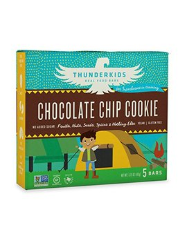 Thunderkids Paleo And Vegan Snacks   Real Food Energy Bars   Chocolate Chip Cookie   Box Of 5   No Added Sugar, Grain And Gluten... by Thunderbird Real Food Bars