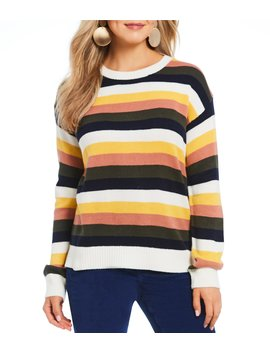 Multi Color Stripe Sweater by Gb