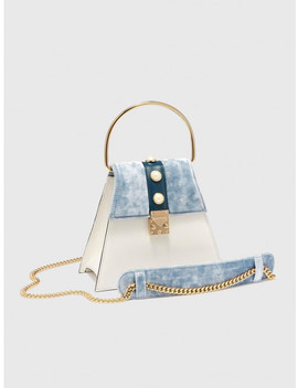 Square Mini In Velvet And Leather Ice Velvet by Dierneas