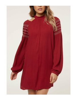 Mirage Long Blouson Sleeve Dress by O'neill