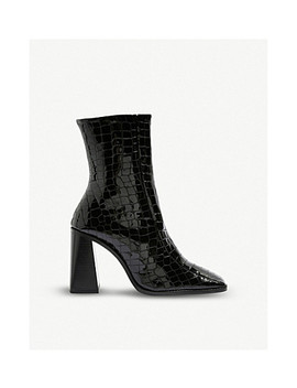 Hurricane Leather Ankle Boots by Topshop