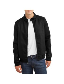 Men's Faux Leather Bomber With Sherpa Lined Interior by Climate Concepts