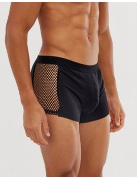 Asos Design Trunks With Wide Mesh Side Panels by Asos Design