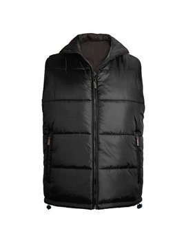 Maximos Men's Reversible Water Resistant Zip Up Puffer Vest by Maximos