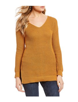 Lace Up Back Sweater by So It Is