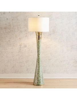 Kiara Green & Gold Mosaic Floor Lamp by Pier1 Imports