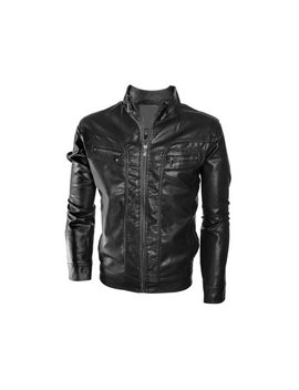 Alta Men's Motorcycle Faux Leather Jacket Quilted Lining Zip Up Outerwear by Alta