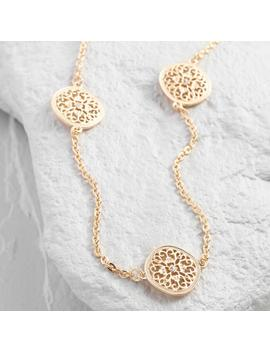 Gold Filigree Medallions Necklace by World Market