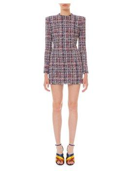 Long Sleeve Tweed Mini Dress by Balmain