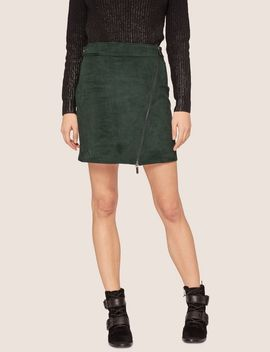 Asymmetrical Faux Suede Skirt by Armani Exchange