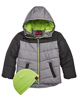 Little Boys Norris Colorblocked Hooded Jacket With Hat by Rm 1958
