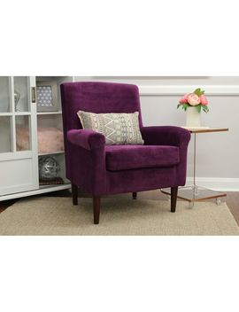 Ellis Purple Rolled Arm Lounge Chair by Pier1 Imports