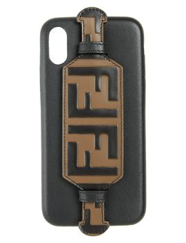 Logo I Phone X Leather Case by Fendi